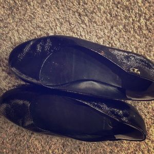 Black patent leather Tory Burch flats